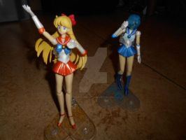 Sailor Venus and Mercury by Laura-Moon97