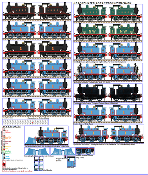 NWR No. 1 'Thomas', (TGE Design) Sprite Sheet by Nictrain123