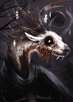 DEAR GOD IT'S LITERALLY A DEER GOD by Ink-Leviathan