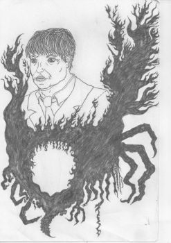 The man in Black Flames by Mike-Le-Pearce