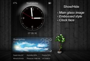 Glassy for xwidget by Jimking