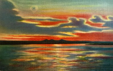 Vintage New Mexico - Rio Grande Sunset by Yesterdays-Paper