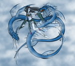 Fantasy Art [ In Flight ] Fae and Dragon Spirits