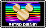 Retro Disney Stamp by RetroUniverseArt