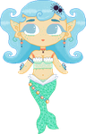 Mermaid OC NF2U by Nerdy-pixel-girl