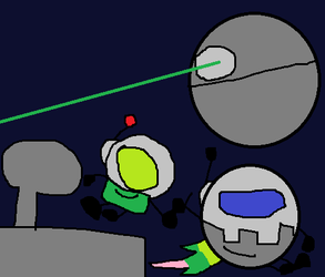 Death Star and Cosmic by FazeTheEggCarUndead2