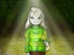 Asriel gives you a golden Flower by Isabel2014