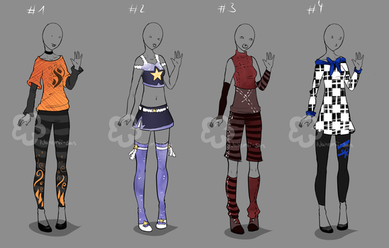 Some Outfit Adopts #25 - sold by Nahemii-san
