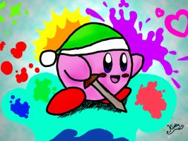 kirby -computer edited by mangaluvver
