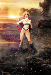 Kate Upton as Power Girl by kaethor