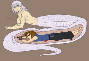 another riku-naga and sora vore WIP by sora-belly