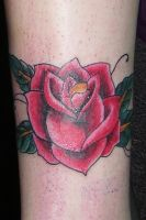 old school rose tattoo by Michael-Kaminski