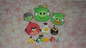 Angry Birds Cast by Vanzkie