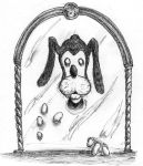 Goofy over the Mirror by OcioProduction