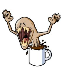 Coffee Monster by ThePsychoGoat