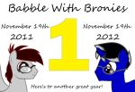 Babble With Bronies - One Year Anniversary by EkardShadowreaver
