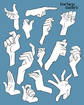 Reference - Hand positions by CourtneysConcepts