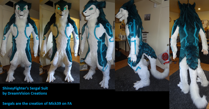 ShineyFighter's Sergal Fullsuit by DreamVisionCreations