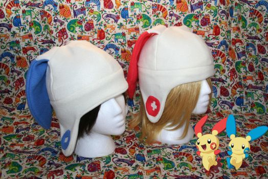 Minun and Plusle hat by IceDragonCosplay