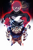 Goku Ultra Instinct awakening by limandao