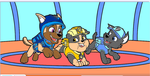 Charlie, Pebbles, and Ocean. by wildfiremarshall