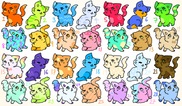 SUPER CHEAP CAT / KITTEN ADOPTS!!! CLOSED by ZodiacCloud