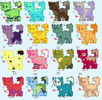 16 Cheap cat Adopts (7/16 OPEN  5 points) by BentonThePhotoKing