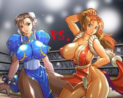 chun li vs mai by gulie72