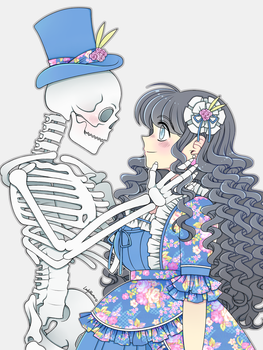 OC - Skeletons and Flowers by LadyBeemer