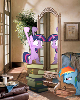 Twilight playing in mirror, RBD watching by Pangbot