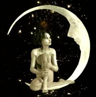 Over The Moon For Him by VisualPoetress