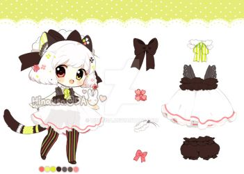 Adoptable: Floral Kitten CLOSED* by Hinausa