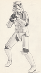 Imperial Stormtrooper by dawndelaney