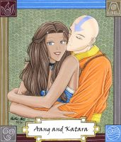 Aang and Katara by Yamigirl21