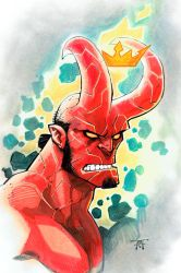 HellBoy headshot by RandyGreen