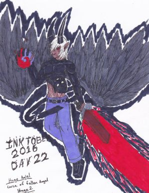 Inktober 2016 Day 22 Agiel Curse Stage 2 by ShadowEclipex