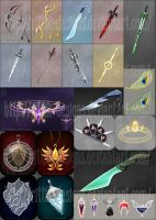 Weapons and items commissions by Rittik-Designs