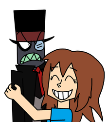 Request - Kira hugging Black Hat by MarcosPower1996