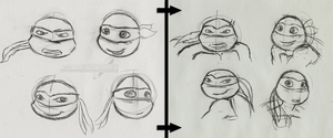 TMNT practice comparing by Angi-Shy