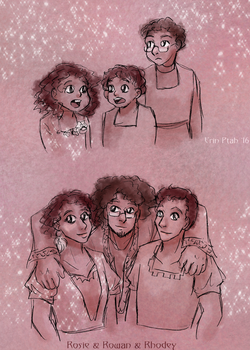 Rowan and the Twins by ErinPtah