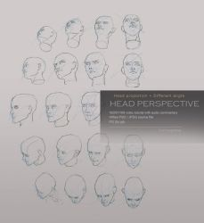 Head perspective tutorial by yuchenghong