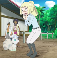 Lillie's terrified by touching Stoutland