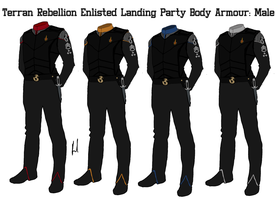 Terran Rebellion Enlisted Crew Body Armour Male by docwinter