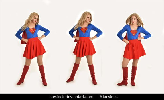 Supergirl  - Stock model reference pack 30 by faestock
