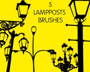 Lampposts Brushes by sara1elo