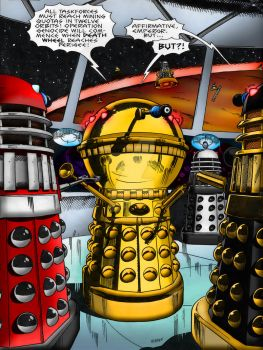 Nemesis Of The Daleks | Page Colourisation REDUX by Cotterill23