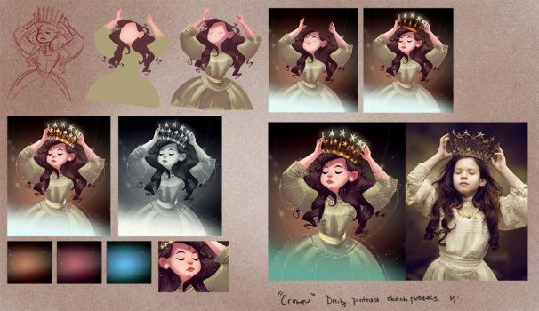 Little crown process sample by Tigermint