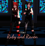 (Tda) Ruby And Rav. by RavenKiryu