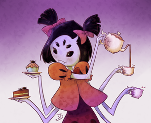 Spider Lady Muffet by Sweetpea-Garden