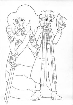 Rose Quartz and Doctor Who by jmkplover